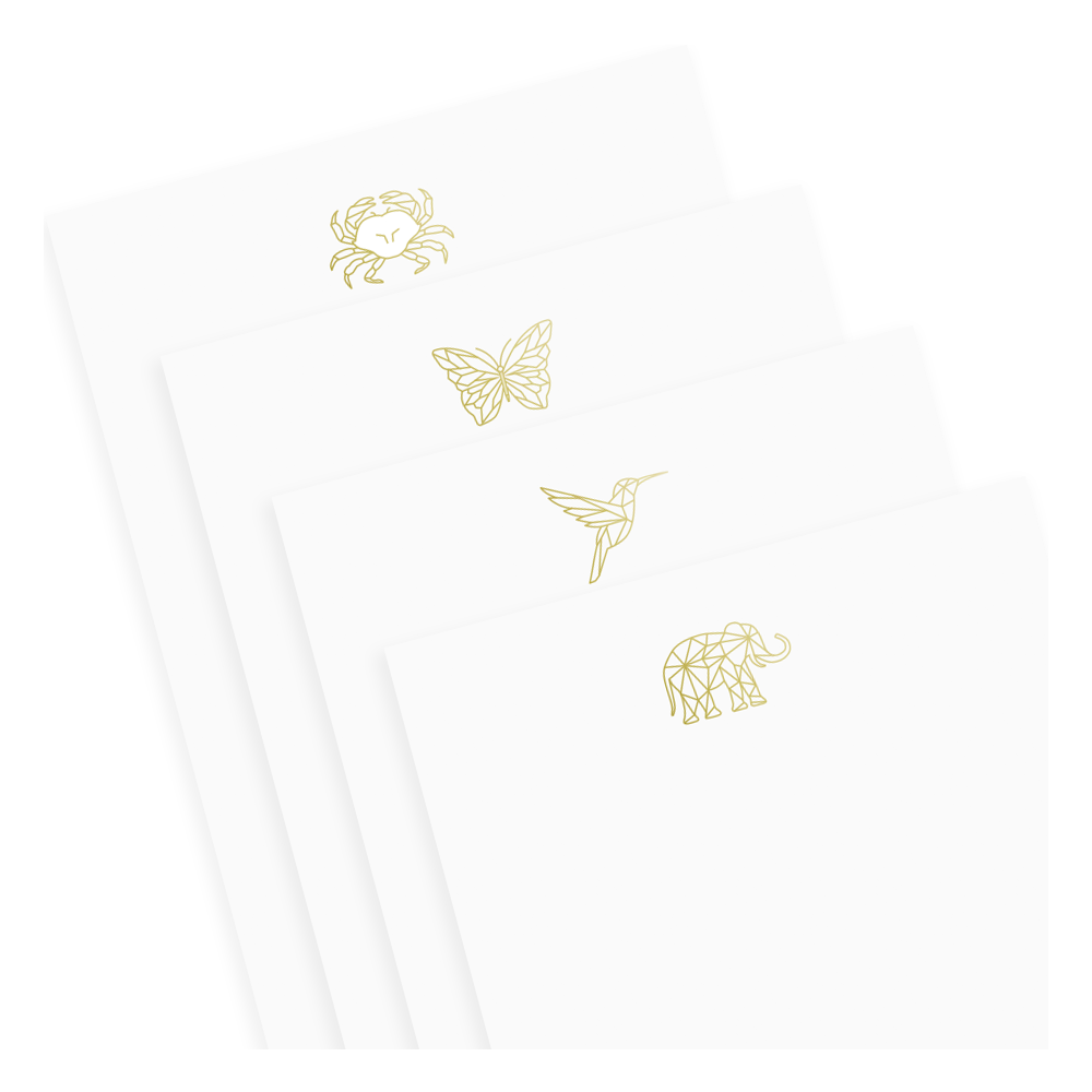 Foil Animal Notepad Set