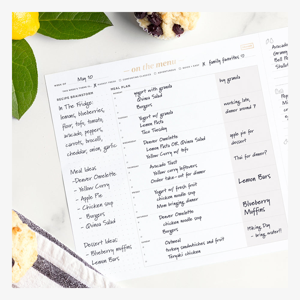 Ink+Volt Meal Planning Pad