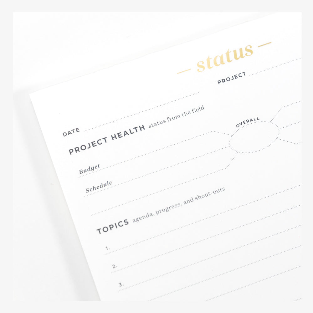 Ink+Volt Project Status Pad