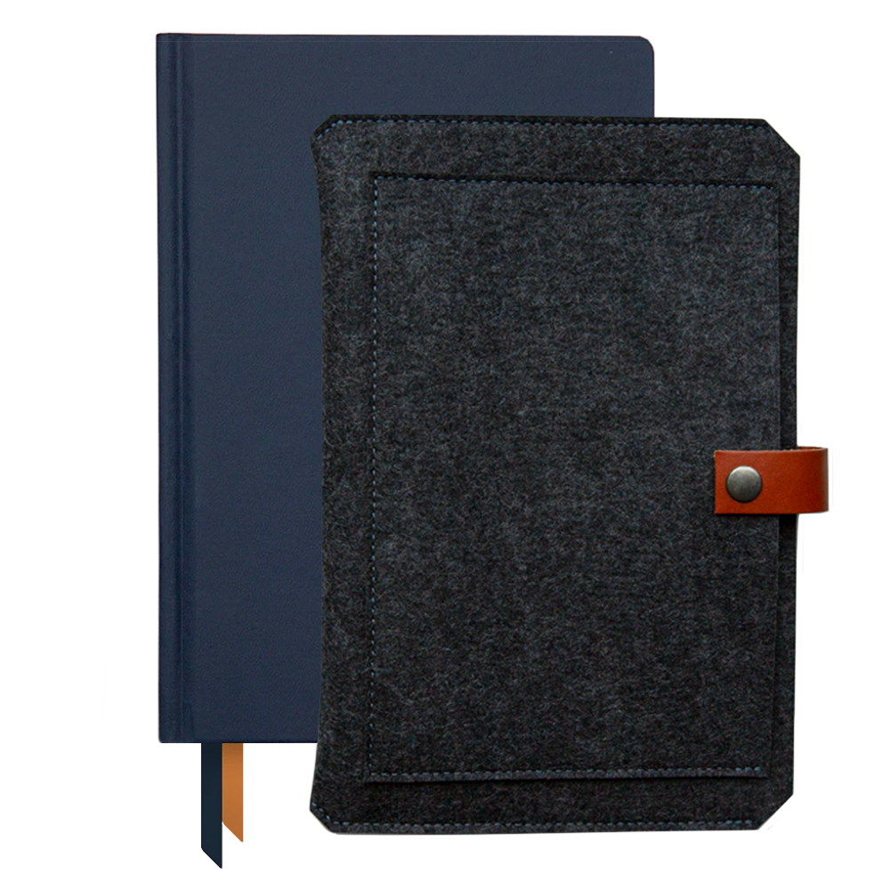 Ink+Volt 2021 Planner & Custom Planner Sleeve Bundle navy