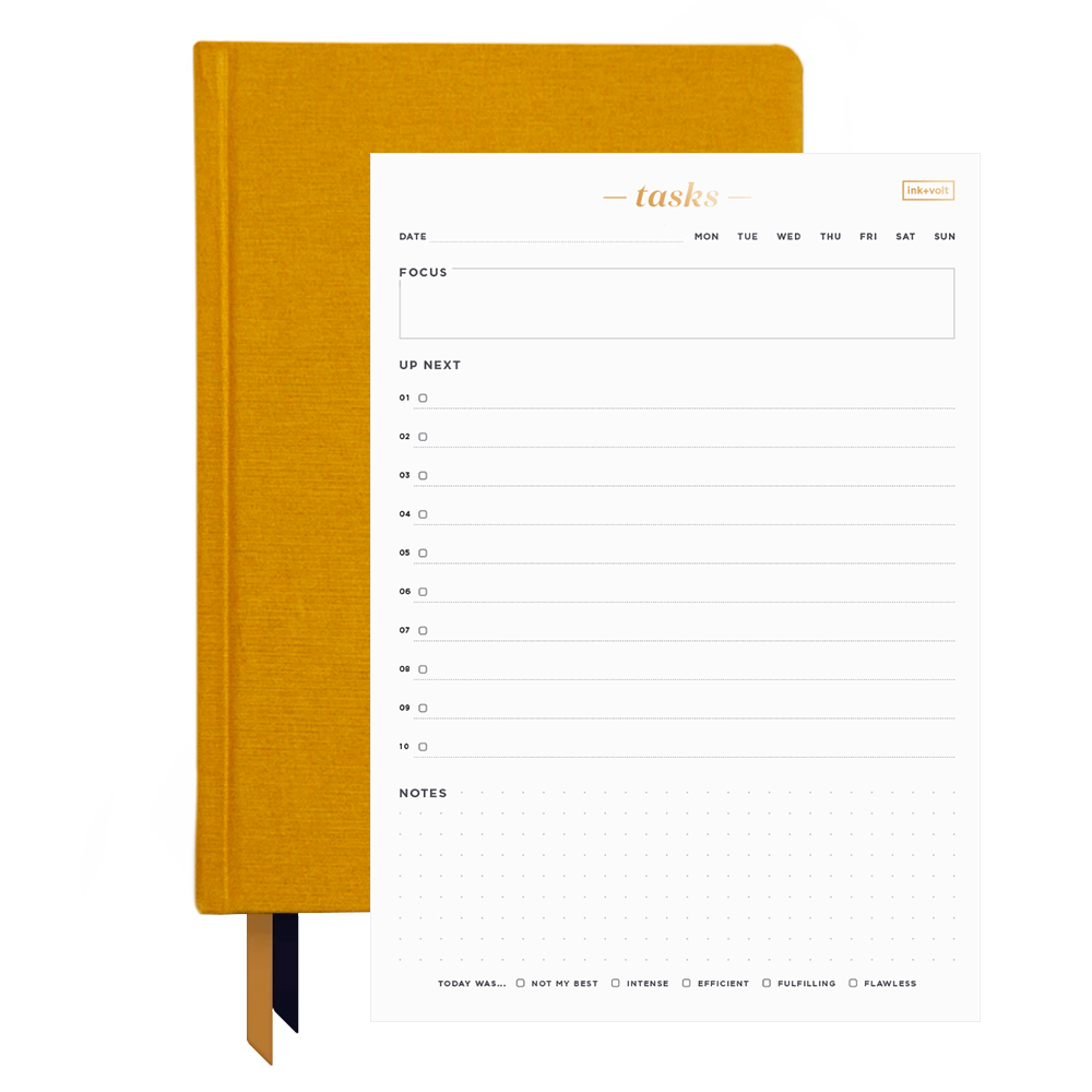 Ink+Volt 2021 Planner & Daily Task Pad Bundle goldenrod