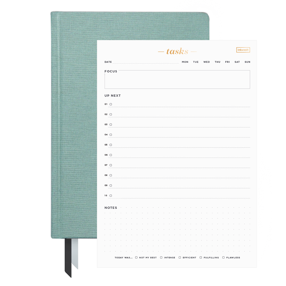 Ink+Volt 2021 Planner & Daily Task Pad Bundle grey dove