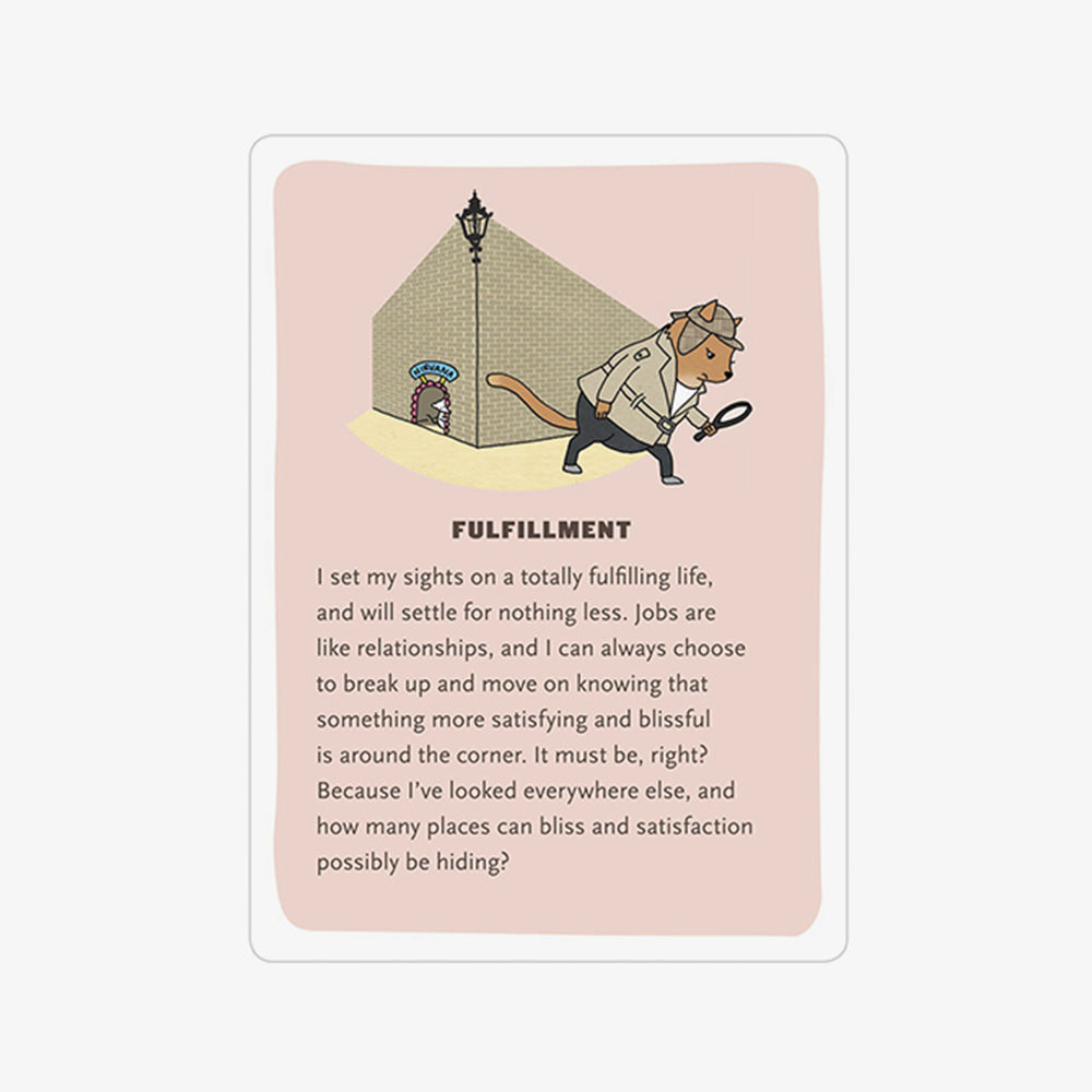 KnockKnock affirmators at work fulfillment card