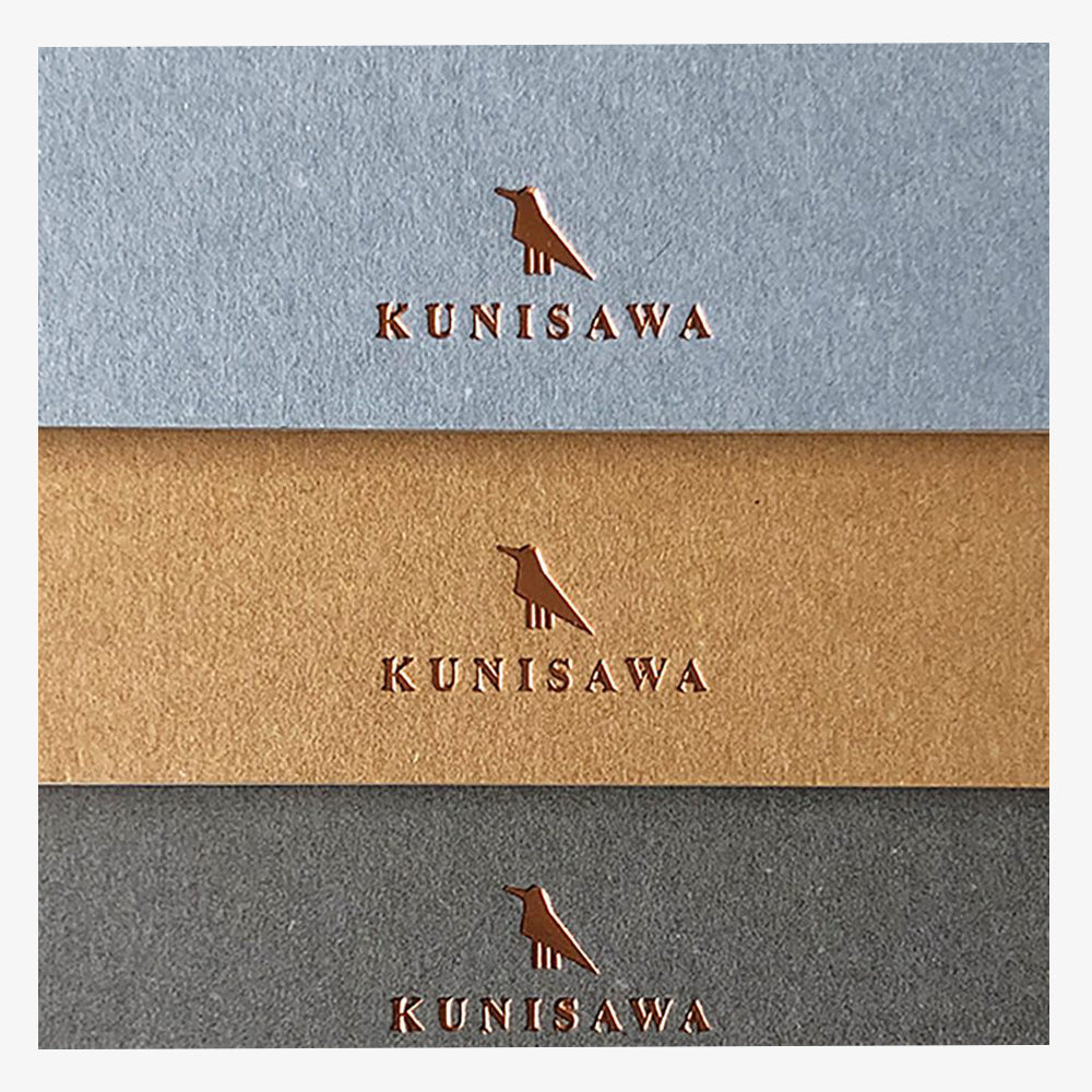 Kunisawa Find Pocket Note Mini Spiral Notebook logo detail