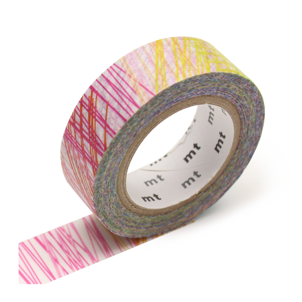 mt washi tape scribble