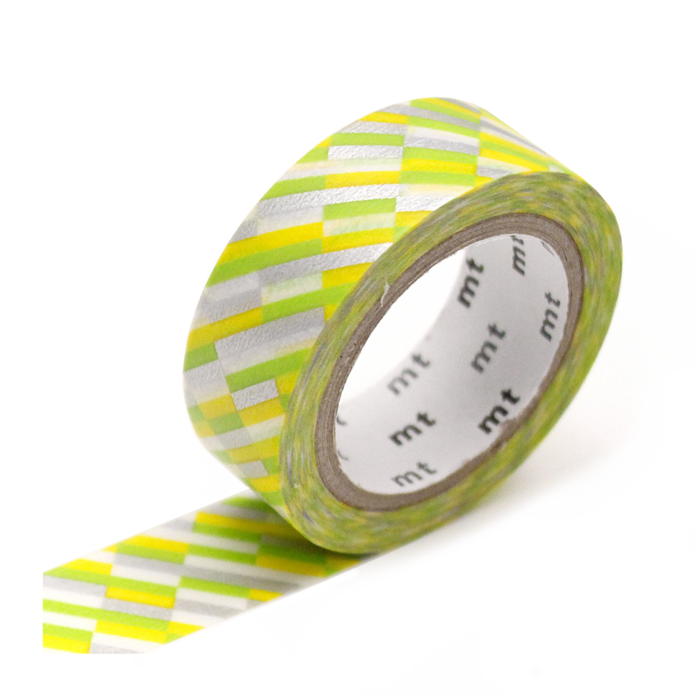 mt washi tape block green