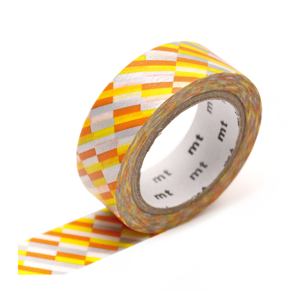 mt washi tape block orange