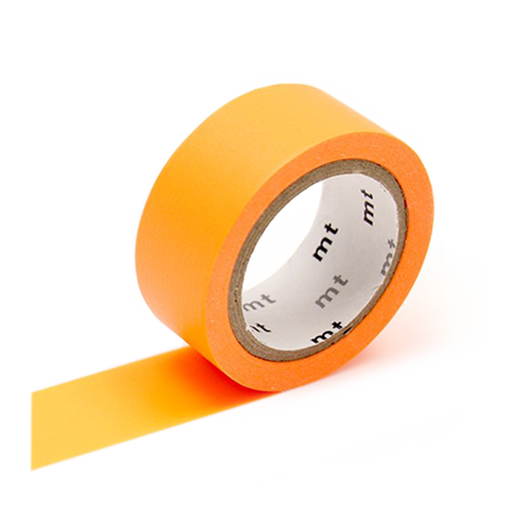 mt washi tape flourescent orange