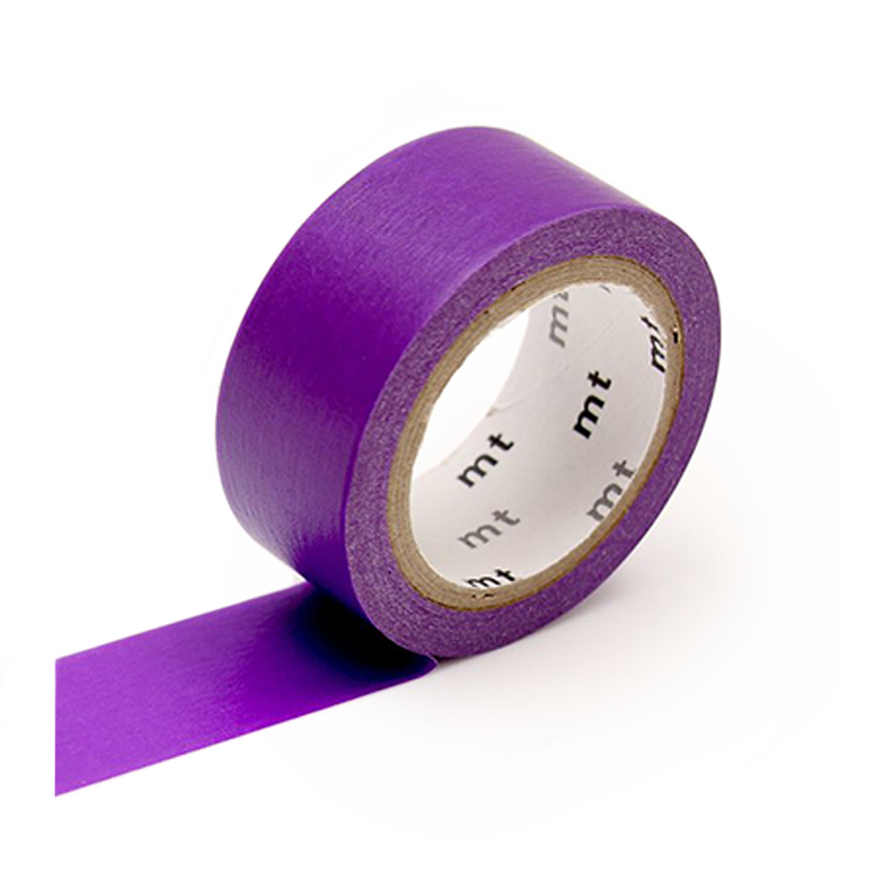 mt washi tape flourescent purple