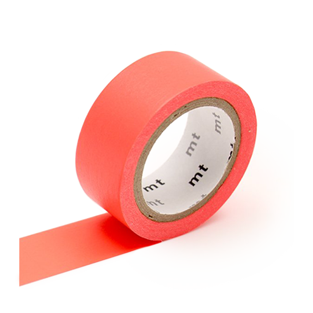 mt washi tape flourescent red