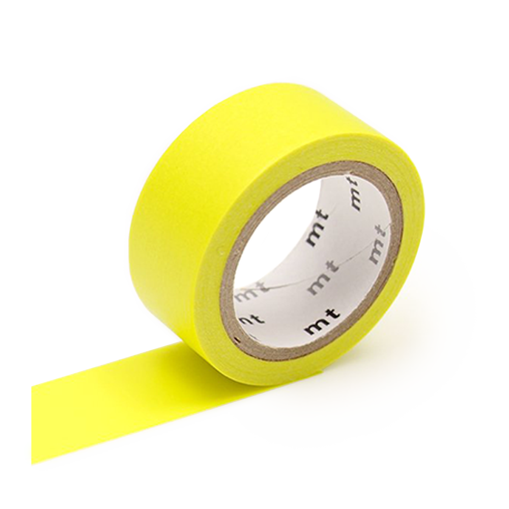 mt washi tape flourescent yellow