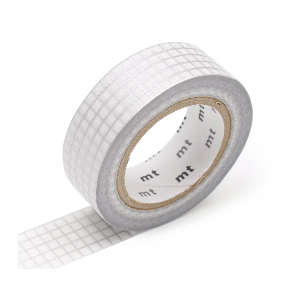 mt washi tape silver graph