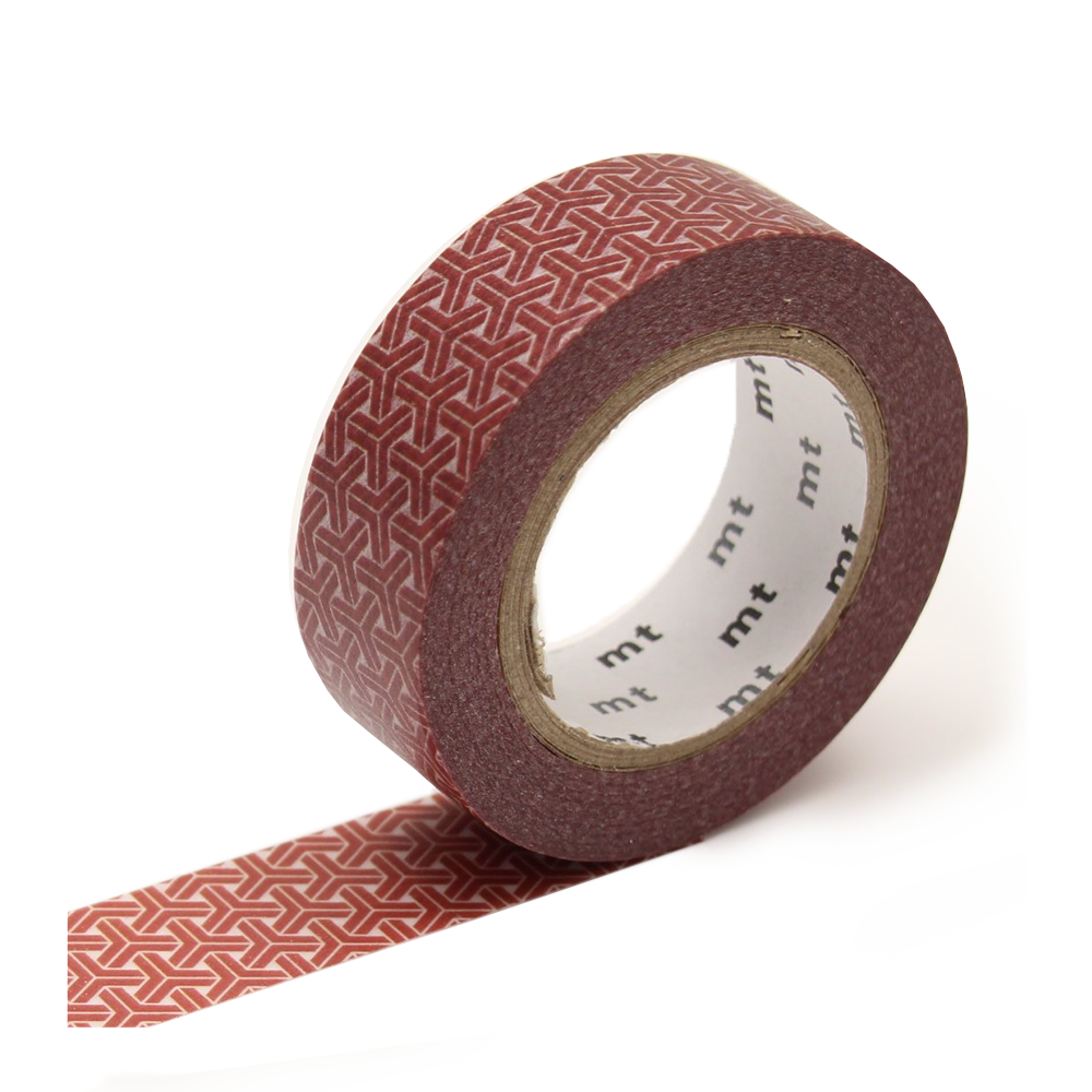 mt washi tape hexagons red