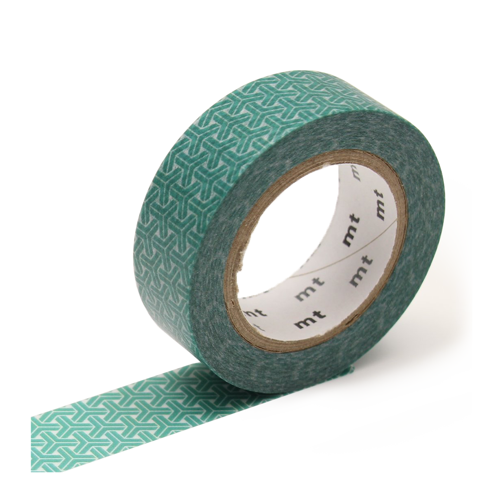 mt washi tape hexagons green