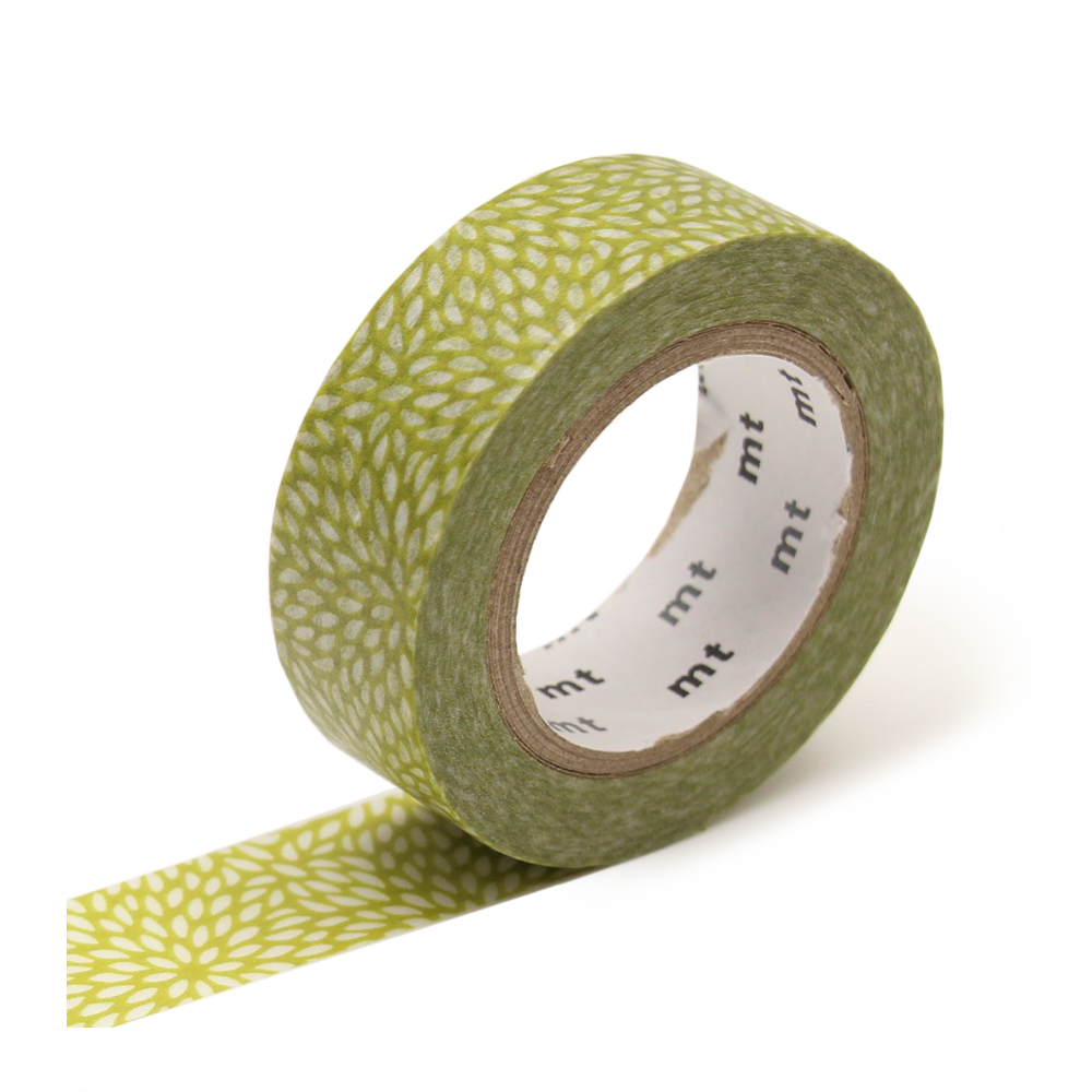 mt washi tape petals green