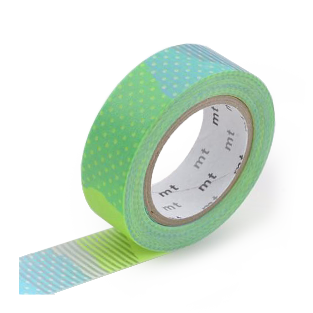 mt washi tape patch cool green