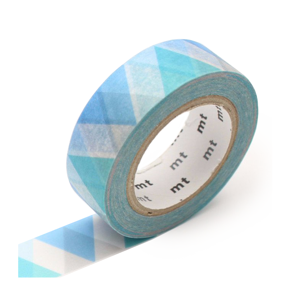 mt washi tape triangle blue