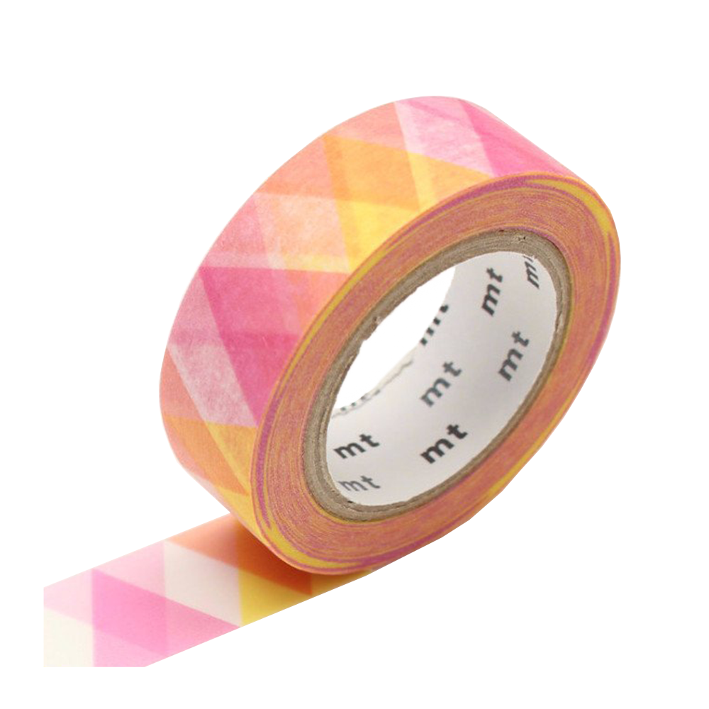 mt washi tape triangle pink
