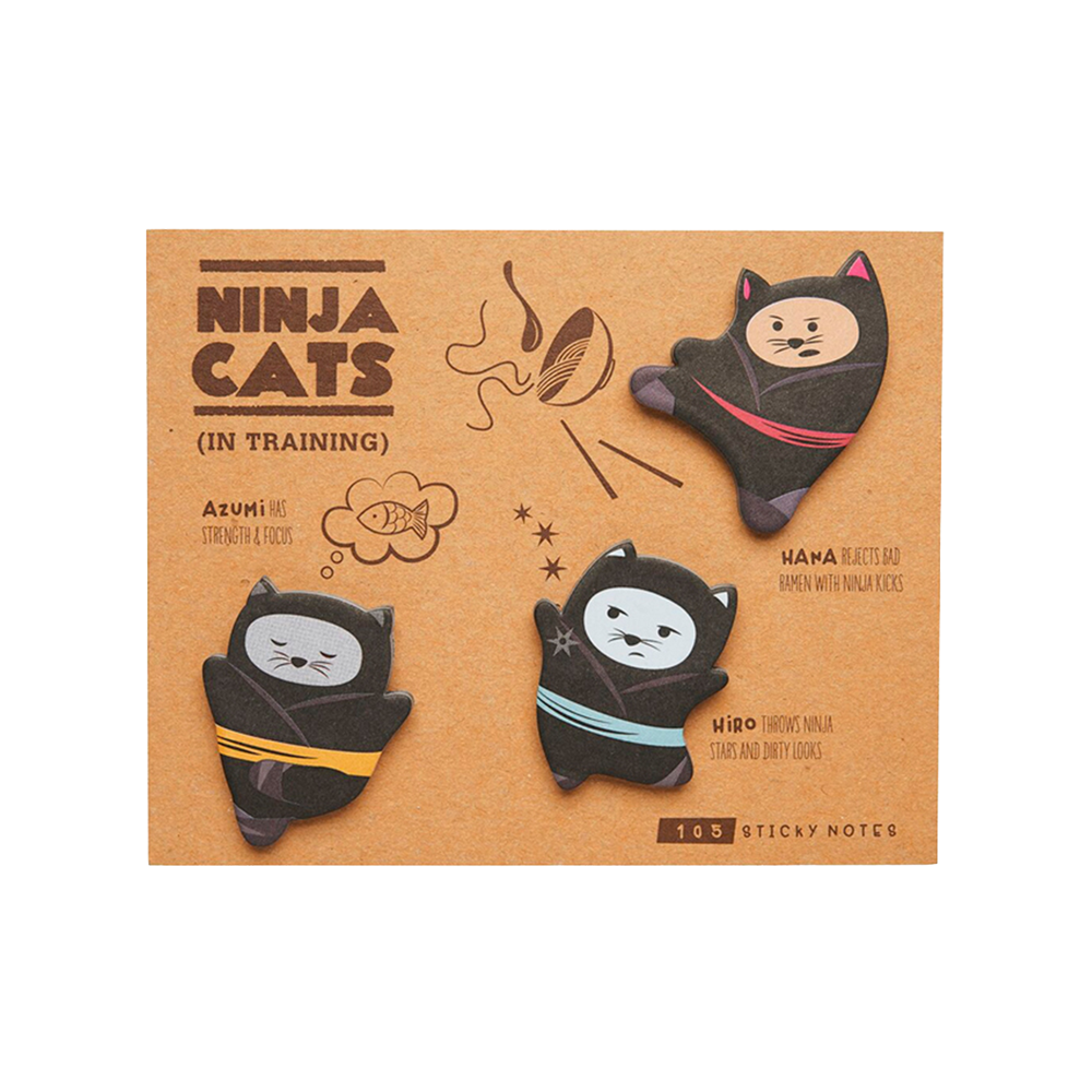 Ninja Cat Adhesive pads 105 sticky notes