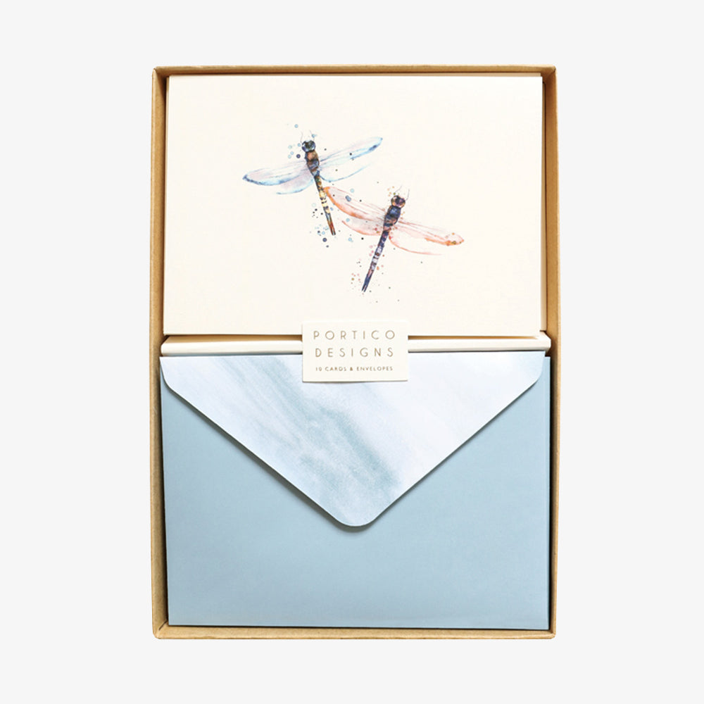Portico dragonflies card box set