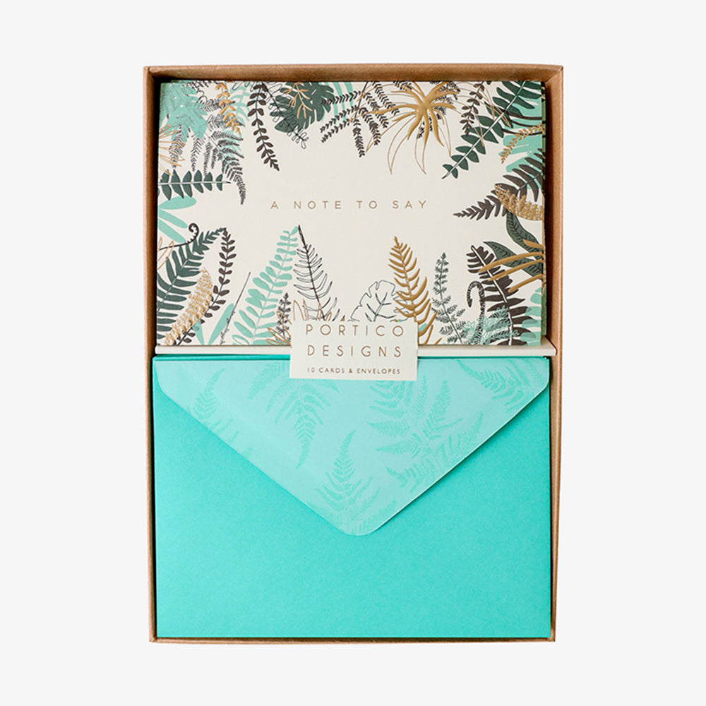 Portico ferns box card set