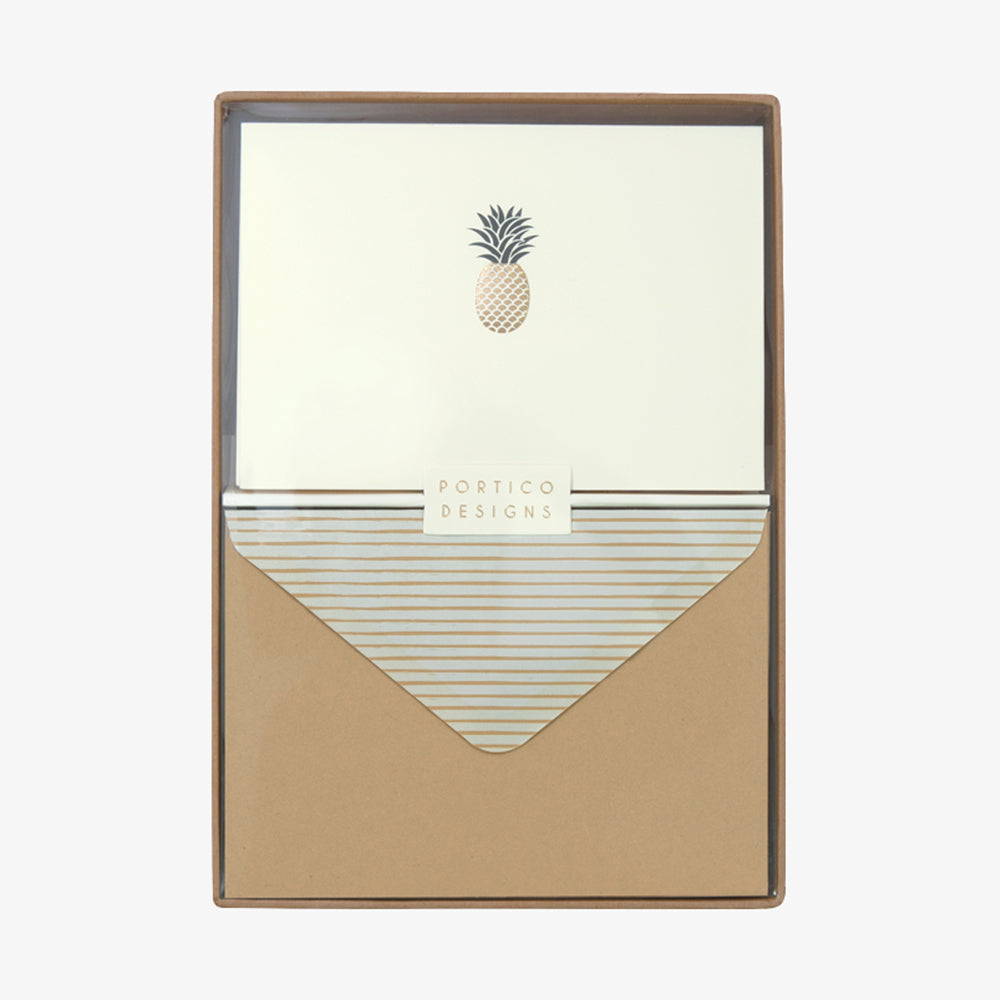 Portico pineapple box card set
