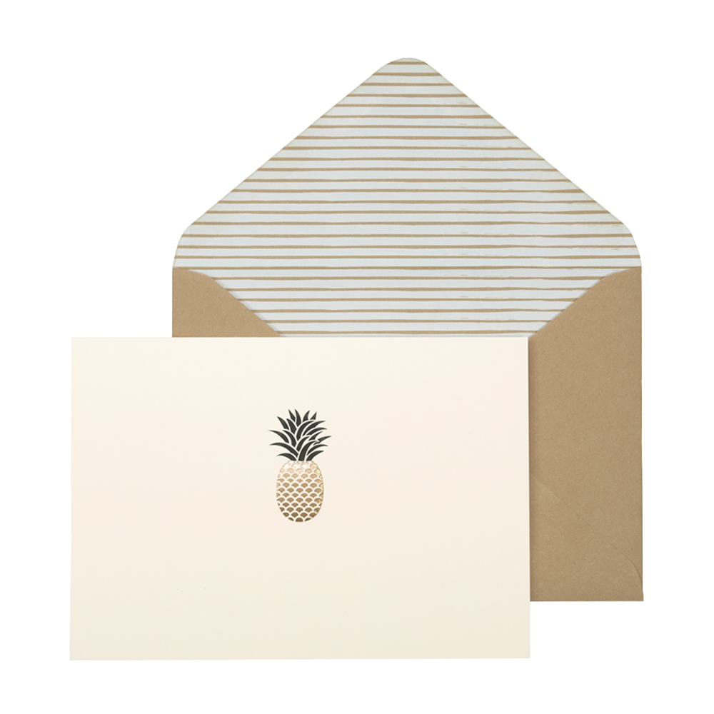 Portico pineapple card set