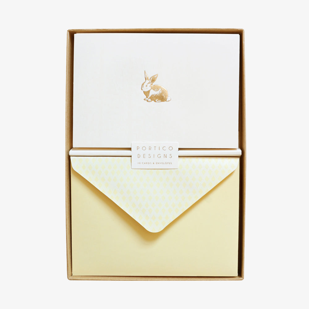 Portico rabbit card box set
