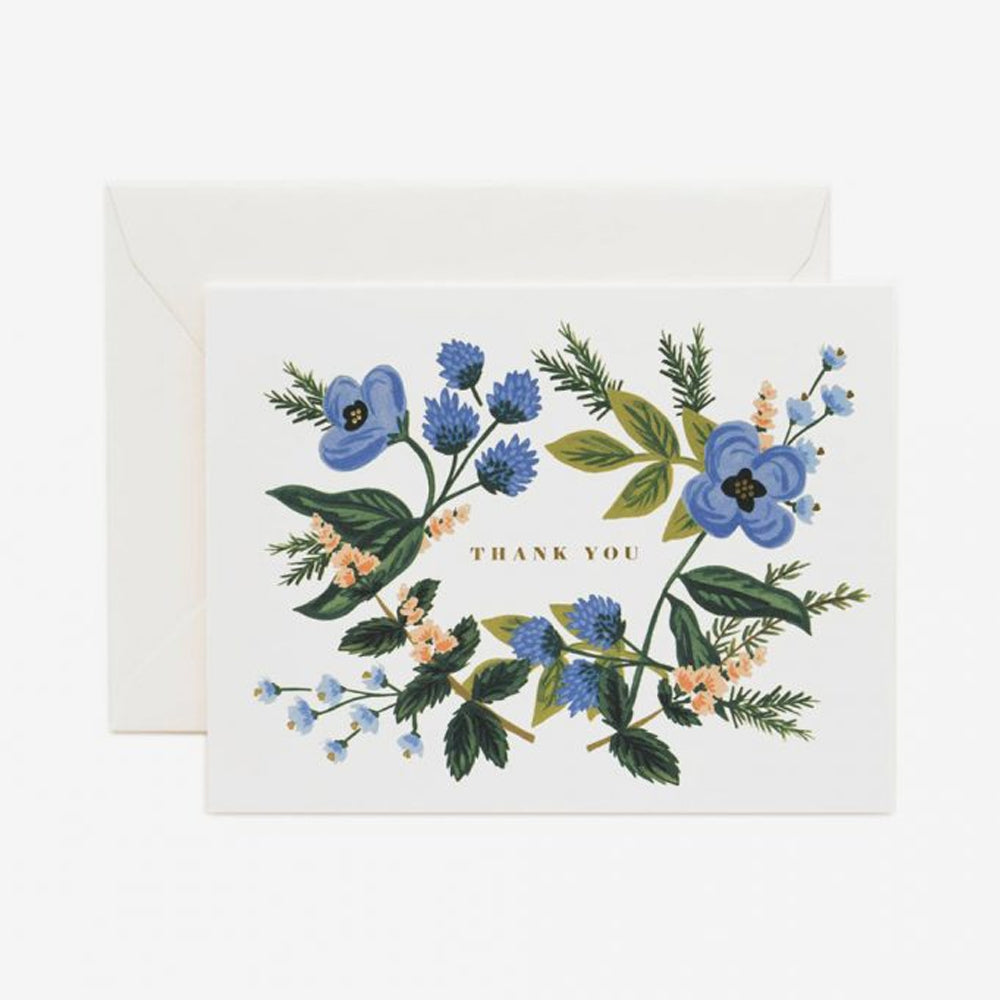 Rifle Paper Co bouquet card blue