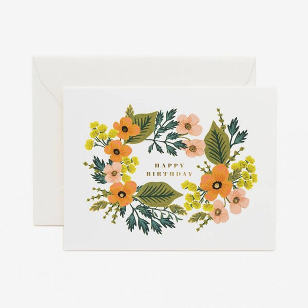 Rifle Paper Co bouquet card yellow