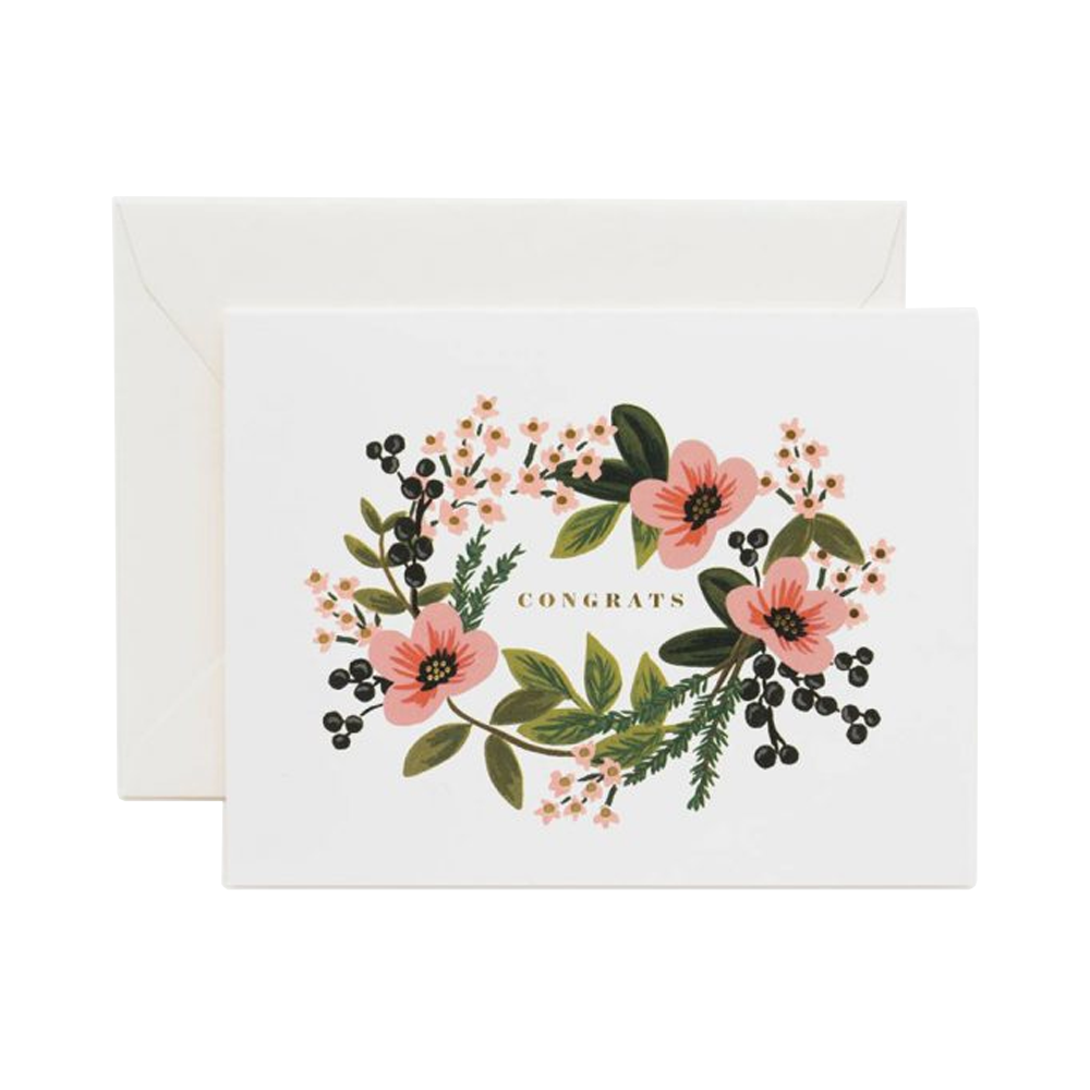 Rifle Paper Co bouquet card pink