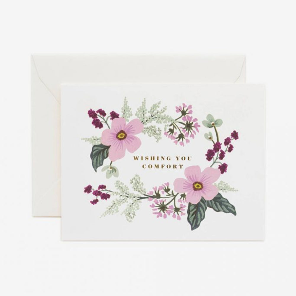 Rifle Paper Co bouquet card purple