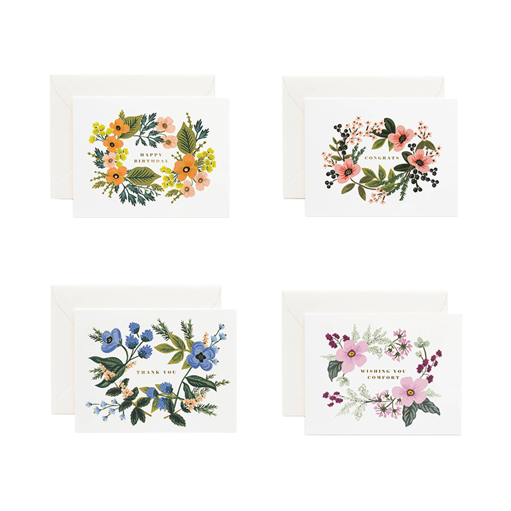 Rifle Paper Co bouquet 8 piece card set