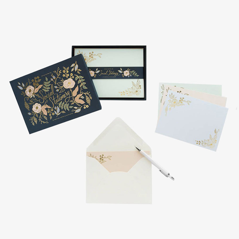 Rifle Paper Co bouquet card stationary set