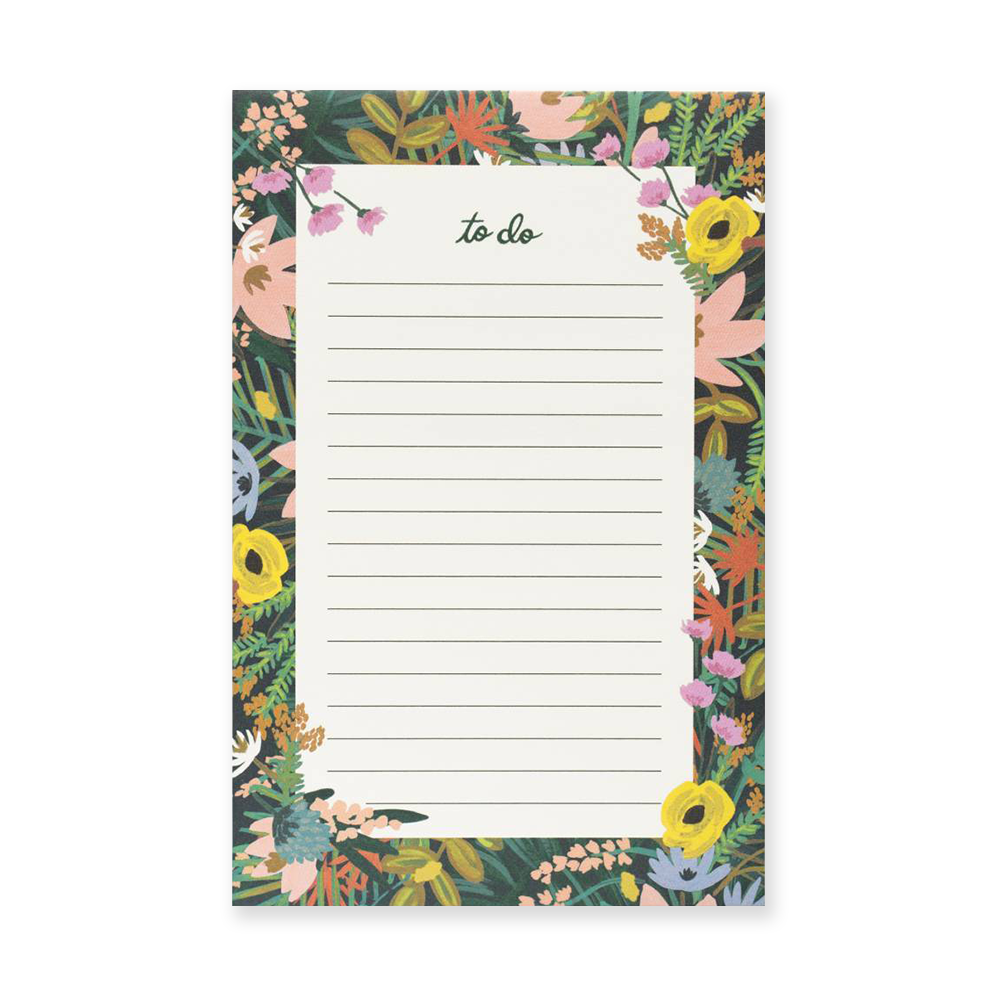 Rifle Paper Co to-do notepad Havana floral