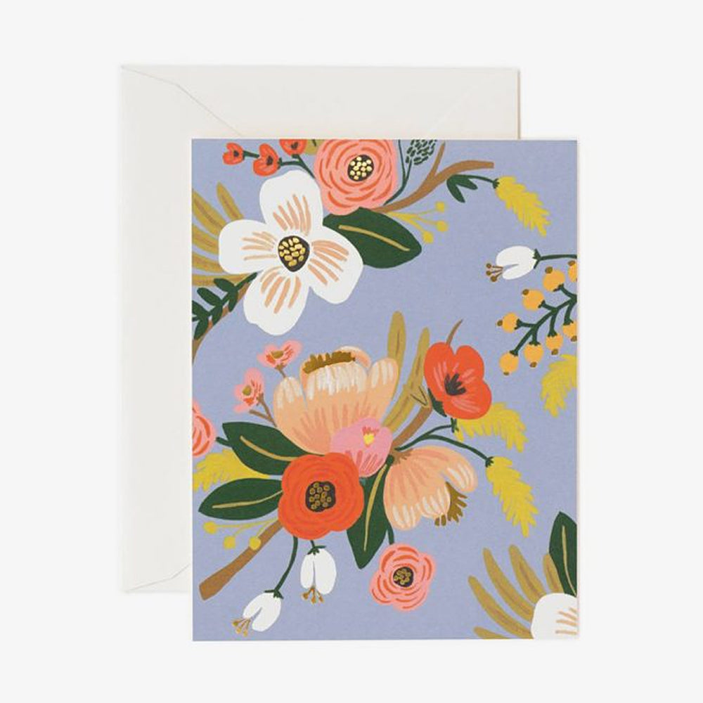 Rifle Paper Co lively floral card blue