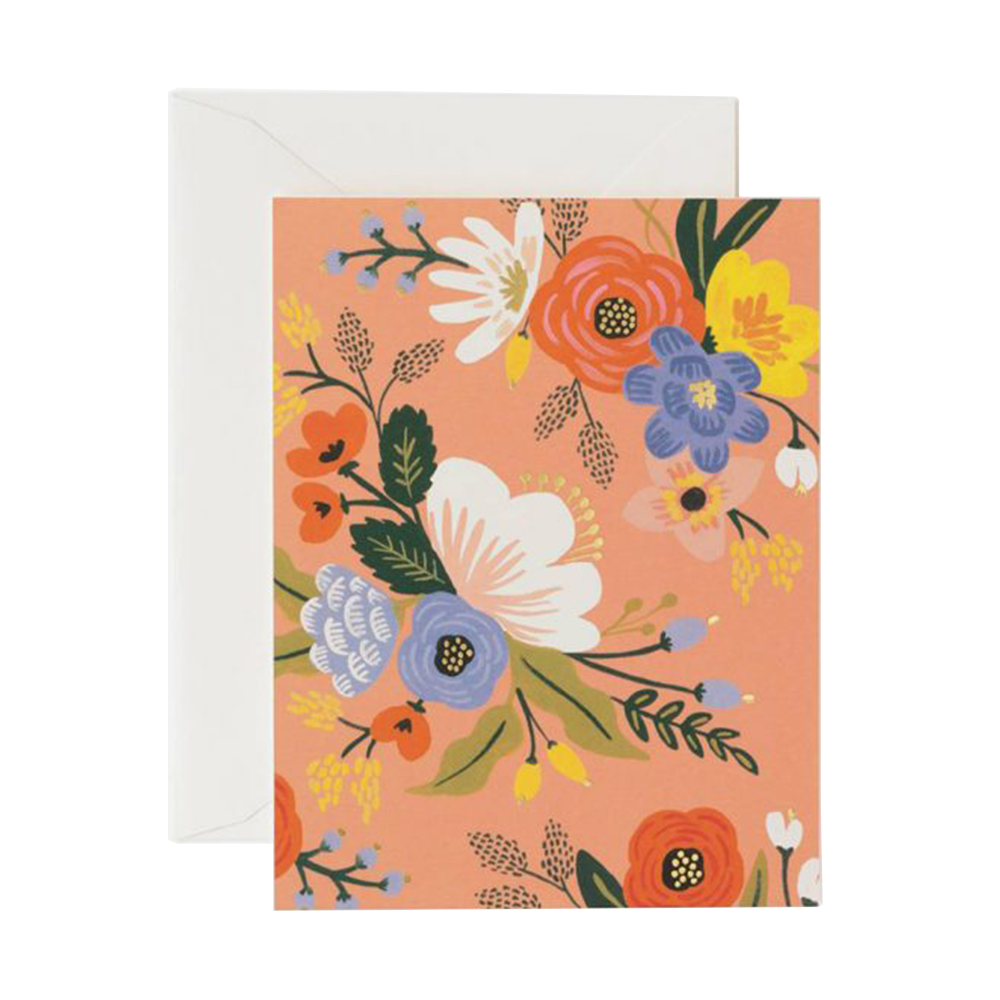 Rifle Paper Co lively floral card pink