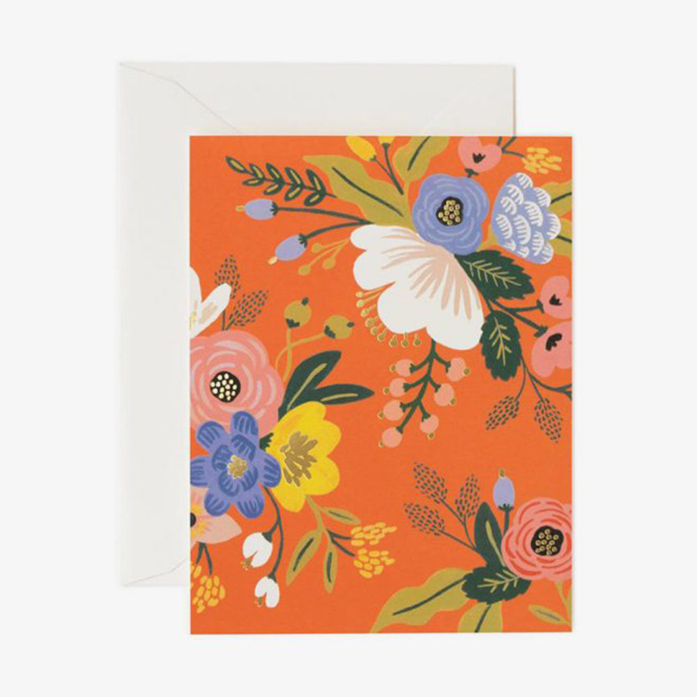 Rifle Paper Co lively floral card red