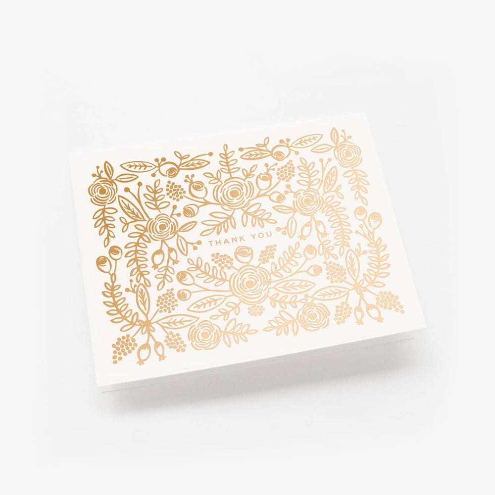 Rifle Paper Co rose gold card