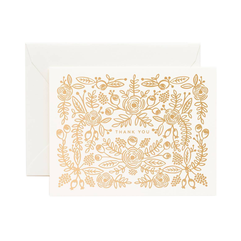Rifle Paper Co rose gold card set