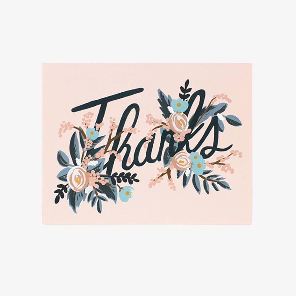 Rifle Paper Co woodland thanks card