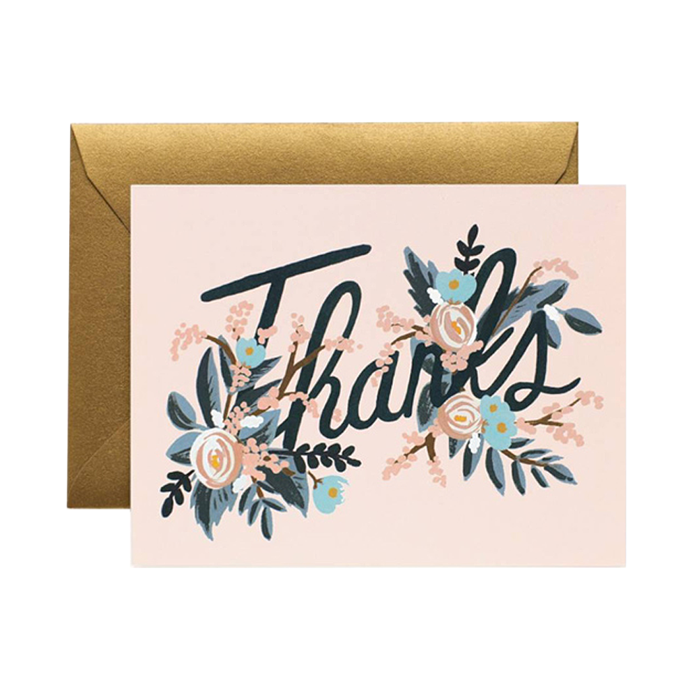 Rifle Paper Co woodland thanks card set