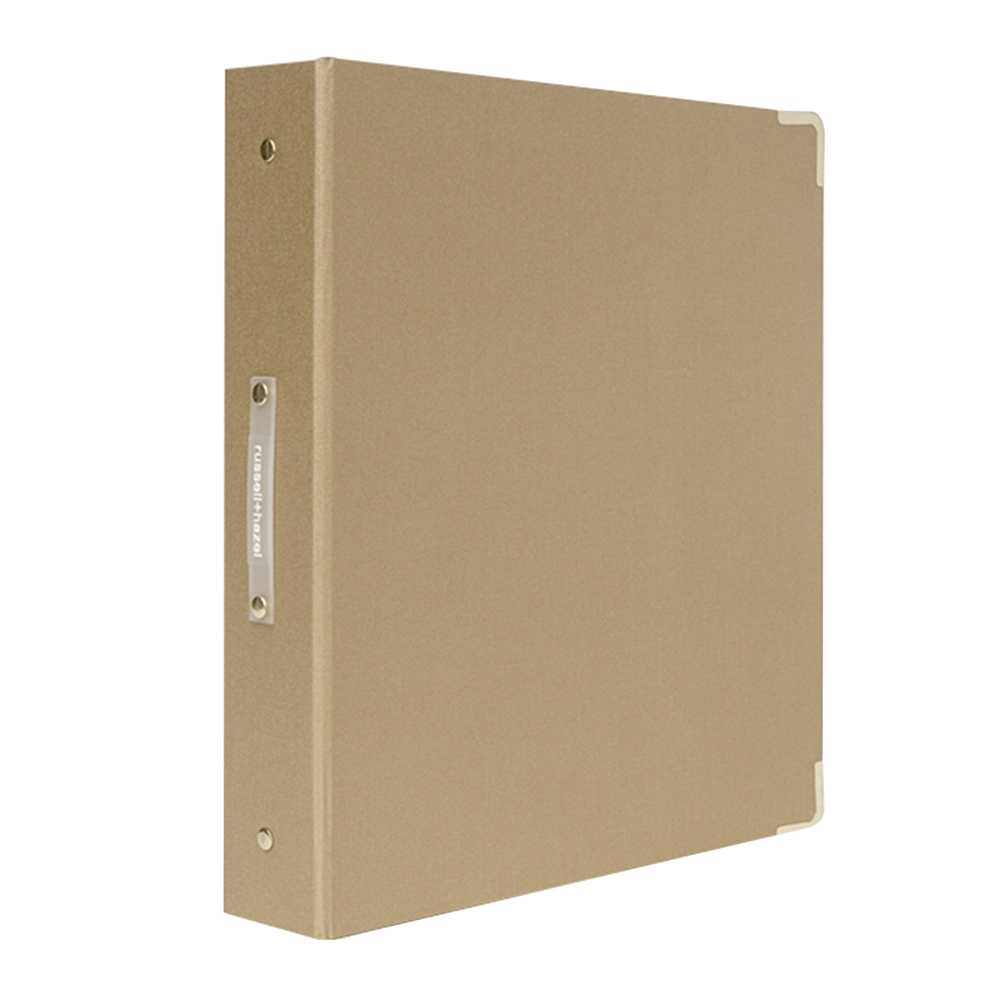 Metallic Bookcloth 3-Ring Binder medallion gold