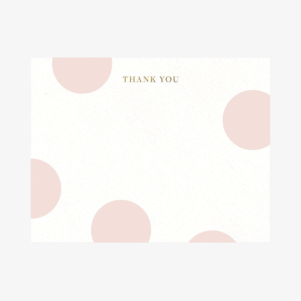 Smitten on Paper Thank You Pink Dots Card