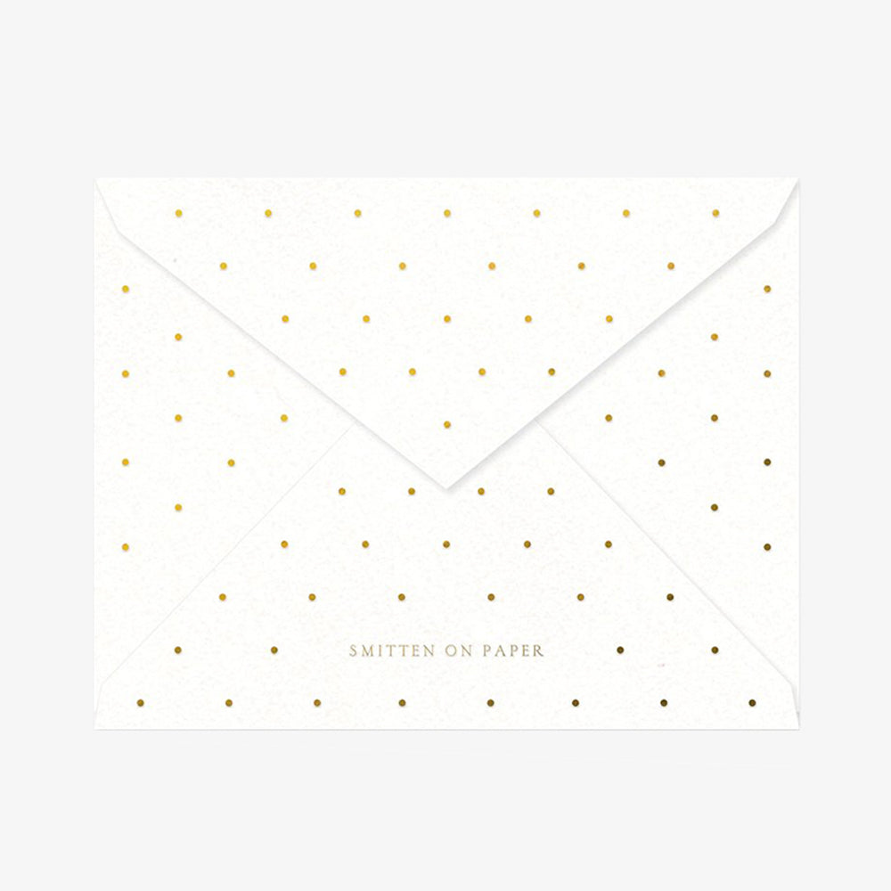 Smitten on Paper Thank You Pink Dots Envelope