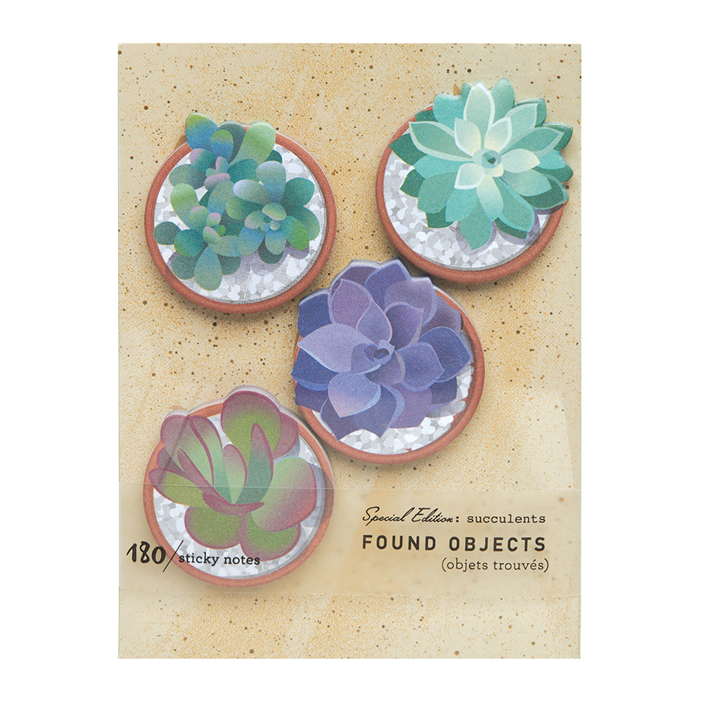 Found Objects: Succulents Sticky Notes