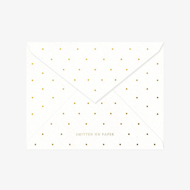 Smitten on Paper smiles envelope