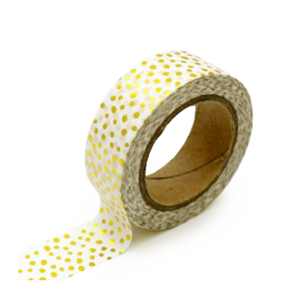 washi tape gold confetti