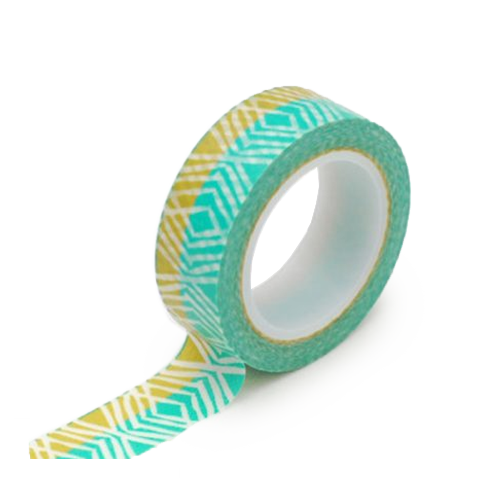 Washi tape teal jungle