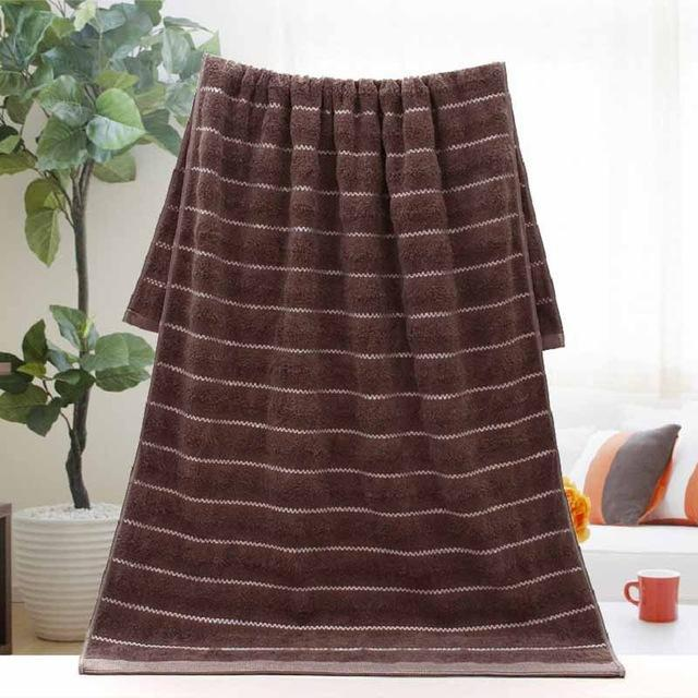 "Nirvana Life Bathroom Brown / 14"" x 30"" Bamboo Fiber Bath Towels"